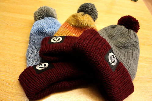 Handmade knitted beanies