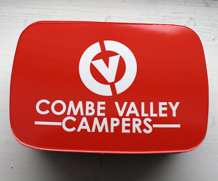 Combe Valley Campers red sticker