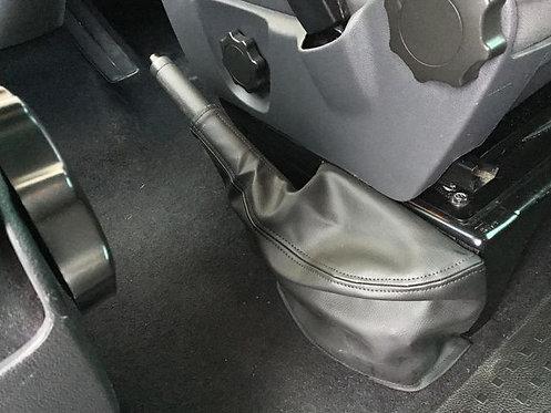 Black leatherette cover for right hand drive VW T5/6  handbrake lowering kit