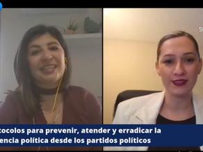 Dialogan mujeres sobre protocolos de prevención de violencia de género desde los partidos políticos
