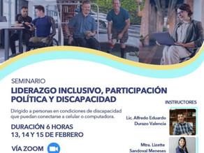 Anuncia CIPPE seminario sobre participación política y discapacidad
