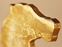 Pferd gold-weiß