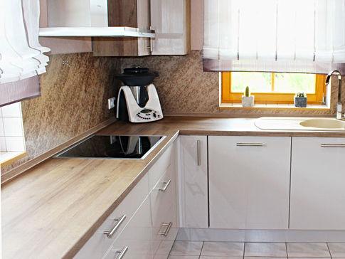 Küchenrückwand creme-braun
