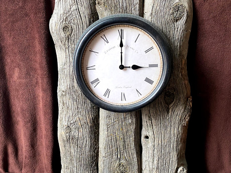 #24 Mounted Clock and Key Shelf