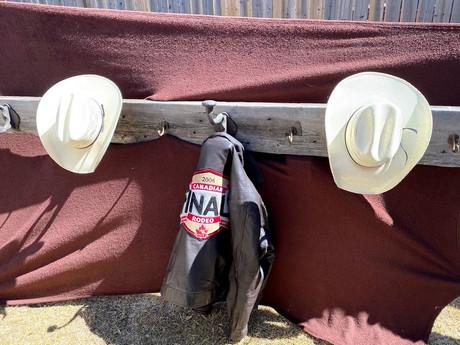 #84 Cowboy Hat & Coat Rack
