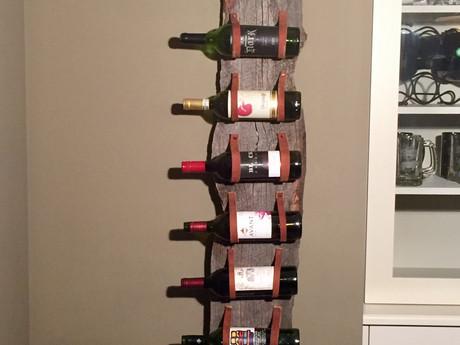 #38 Leather Wine Rack