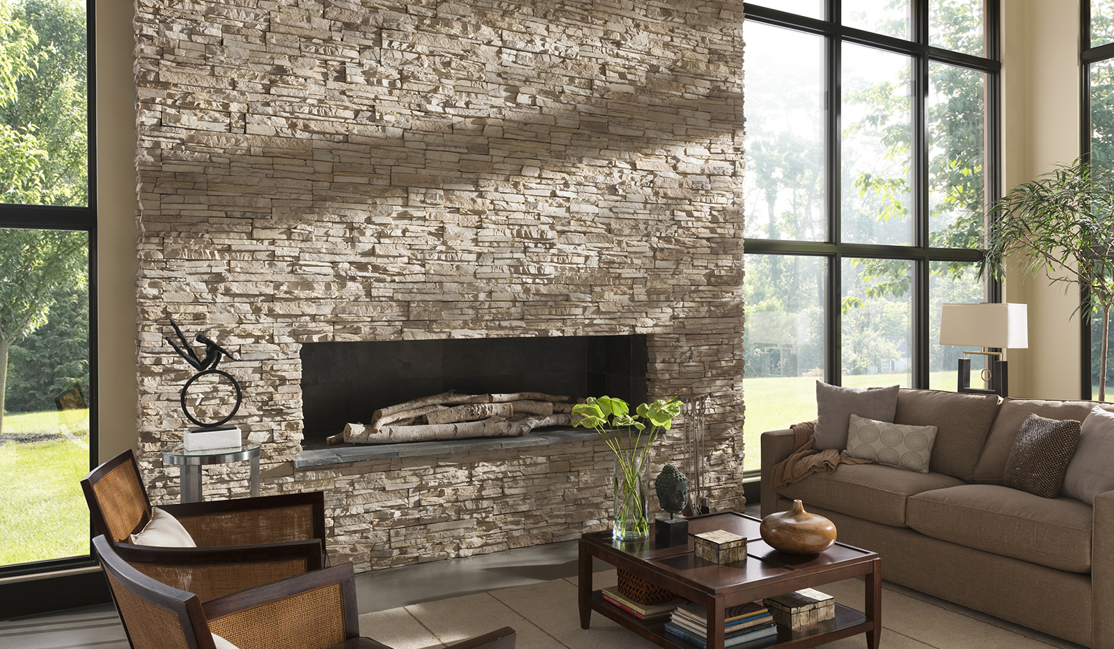 Contemporary Fireplace Remodel