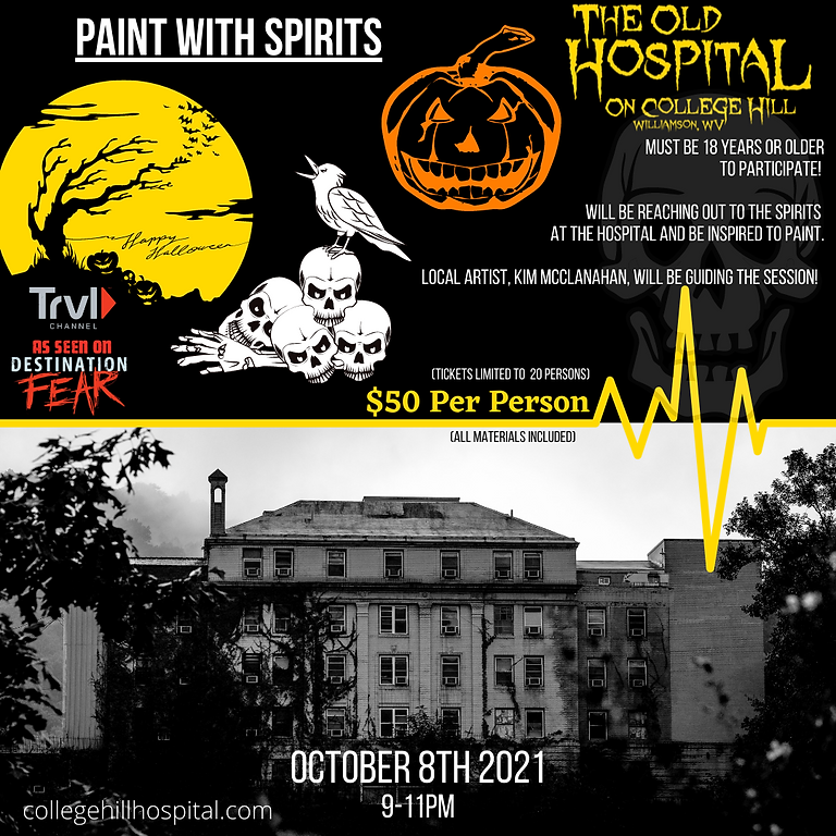 Paint With Spirits - 10/8 : 9-11PM