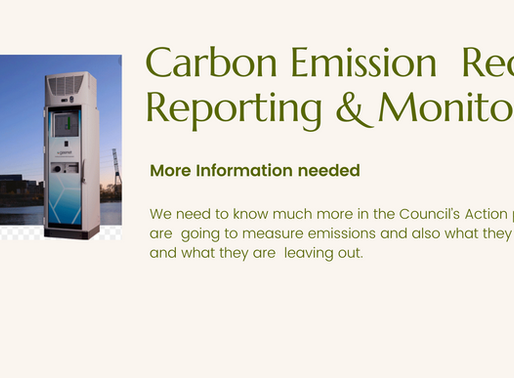 Carbon Emission Reduction Reporting & Monitoring.