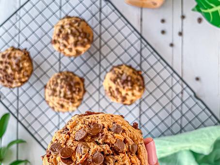 Muffin Fit de Chocolate e Pasta de Amendoim