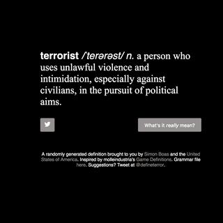Definition of Terrorist