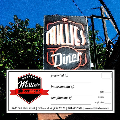 Millie's Gift Certificate