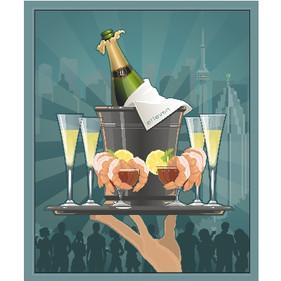 Catering Poster for _Elleven_ Restaurant