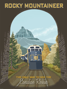 Canadian Rocky Mountaineer Poster Graphic
