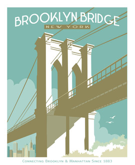Brooklyn Bridge New York Poster Graphic