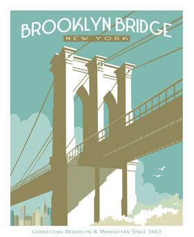 Brooklyn Bridge New York Poster Graphic