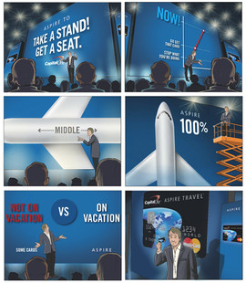 Capital One Digital Illustration