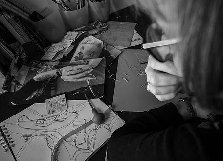 Printmaking design process