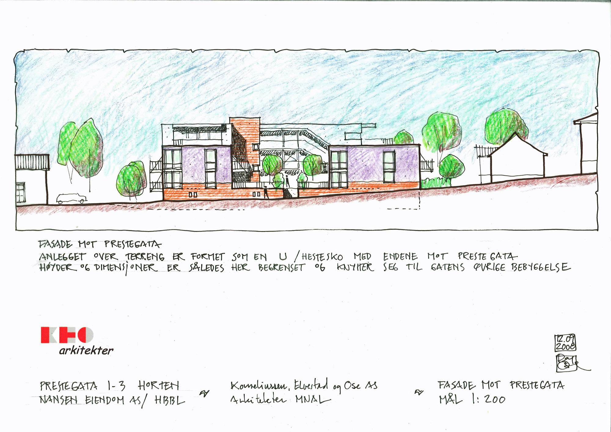Prestegata 1-3 Fasader