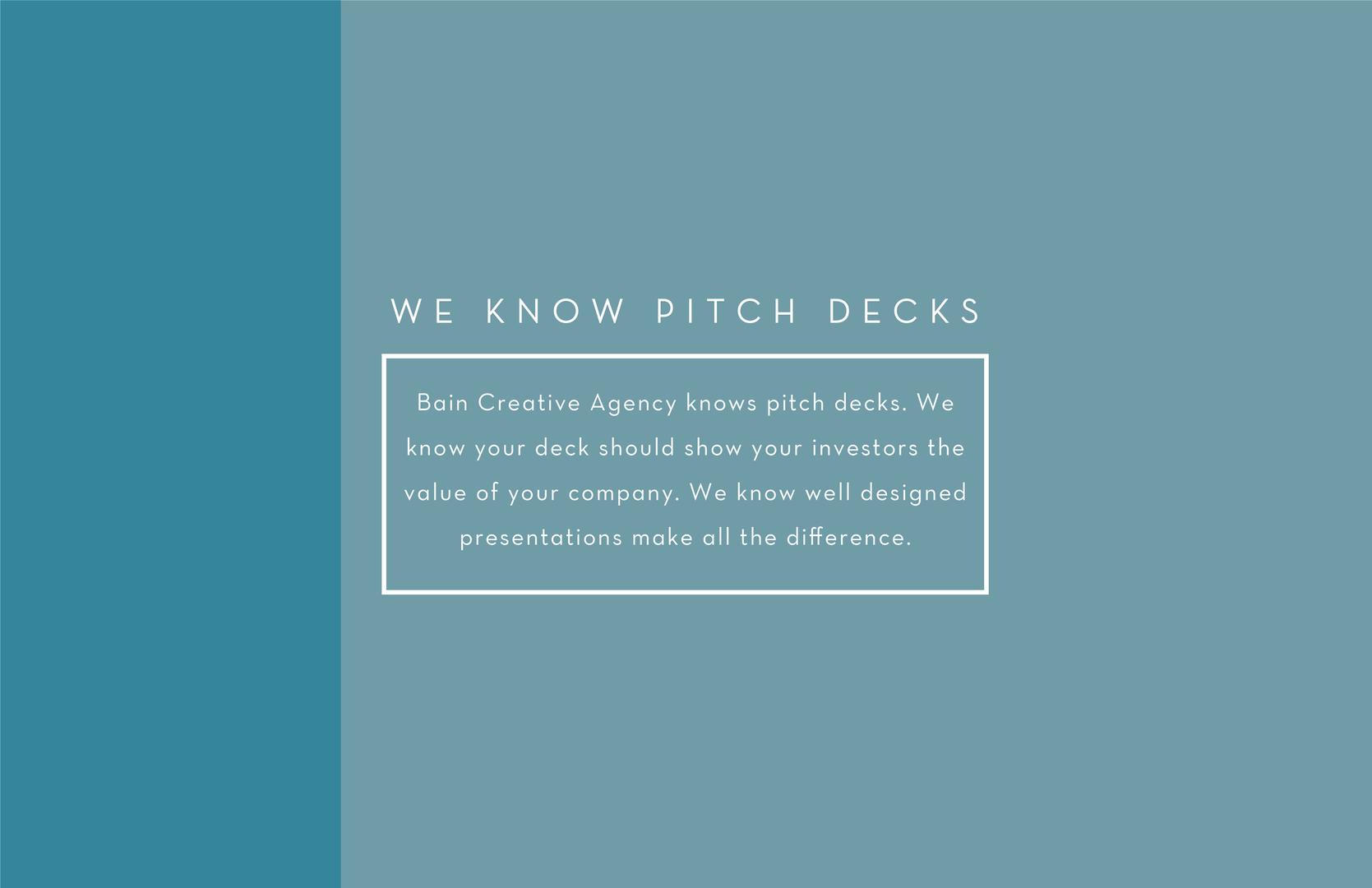 We Know Pitch Decks