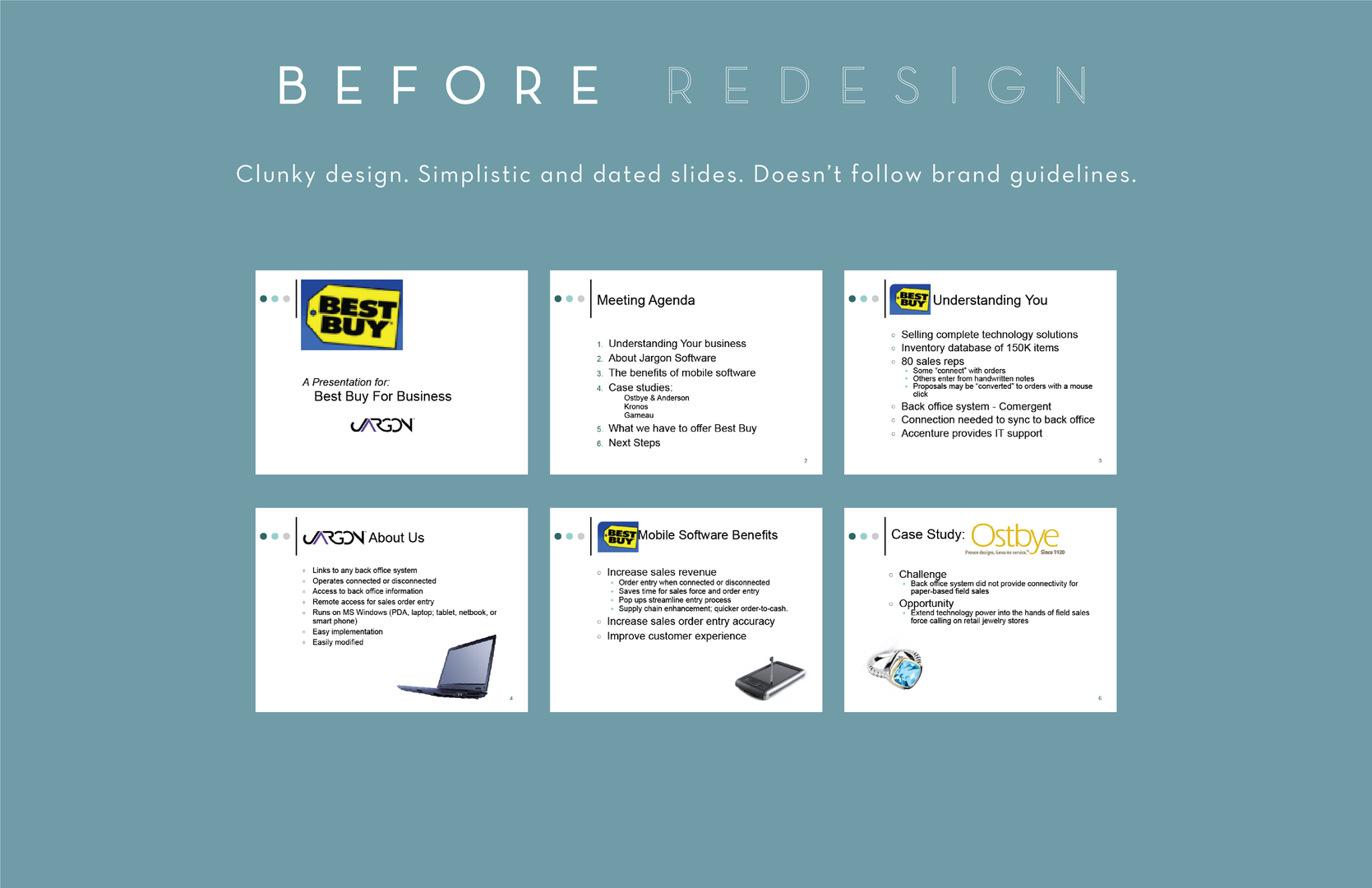 BEFORE Redesign