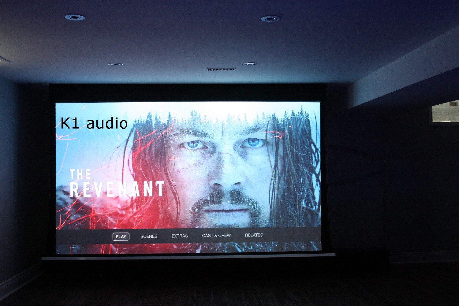 "135"" In-Ceiling Screen Projector"