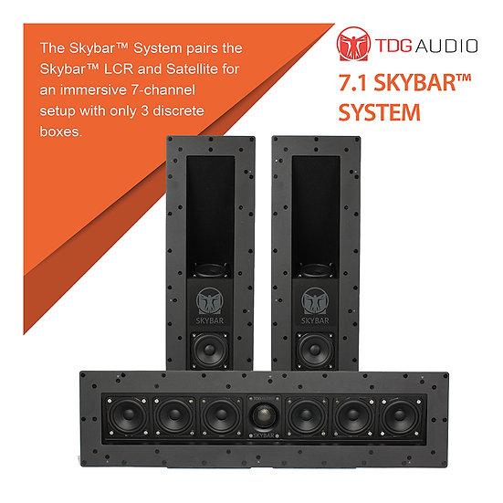 TDG Audio COMPLETE 7.1 SKYBAR™ SYSTEM