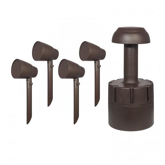"""SpeakerCraft Terrazza Outdoor Kit with four 4"""" heads and one 8"""" Burial Sub"""