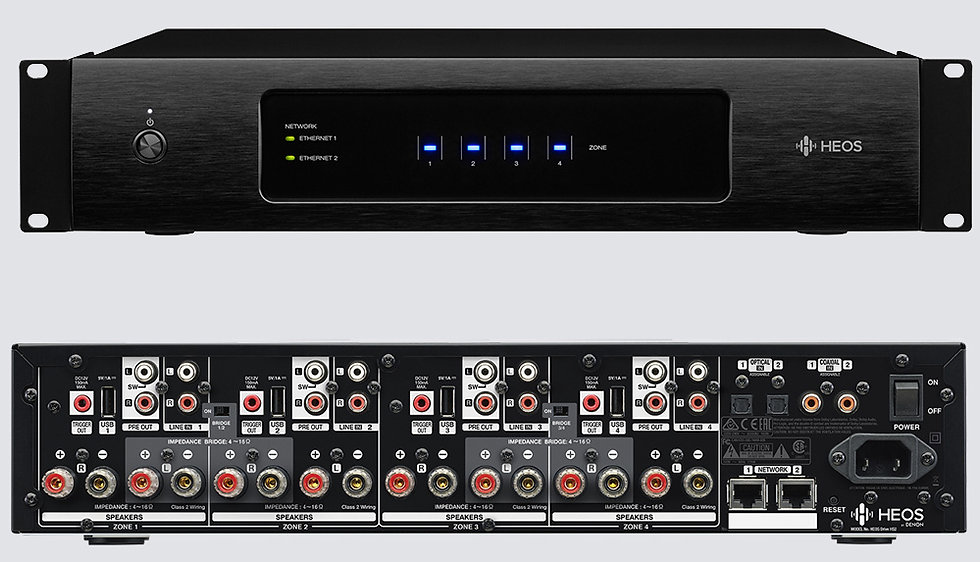Denon HEOS DRIVE Multi-Zone Amplifier - 8 Channel - 4 Zone