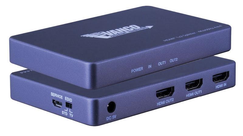 Vanco HDMI® 1×2 4K Splitter with HDR- HDSP4K12