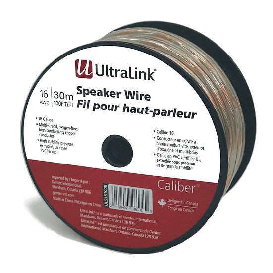 Ultralink Caliber Premium Speaker Wire 12AWG with Pins