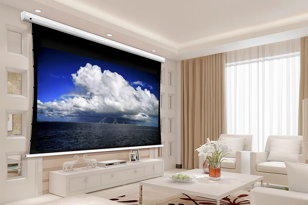 Cirrus Screens Tauten Series - Motorized, Tab Tensioned Home Theater Pro