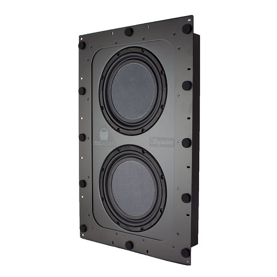 TDG Audio DUAL 10″ IN-WALL SUBWOOFER