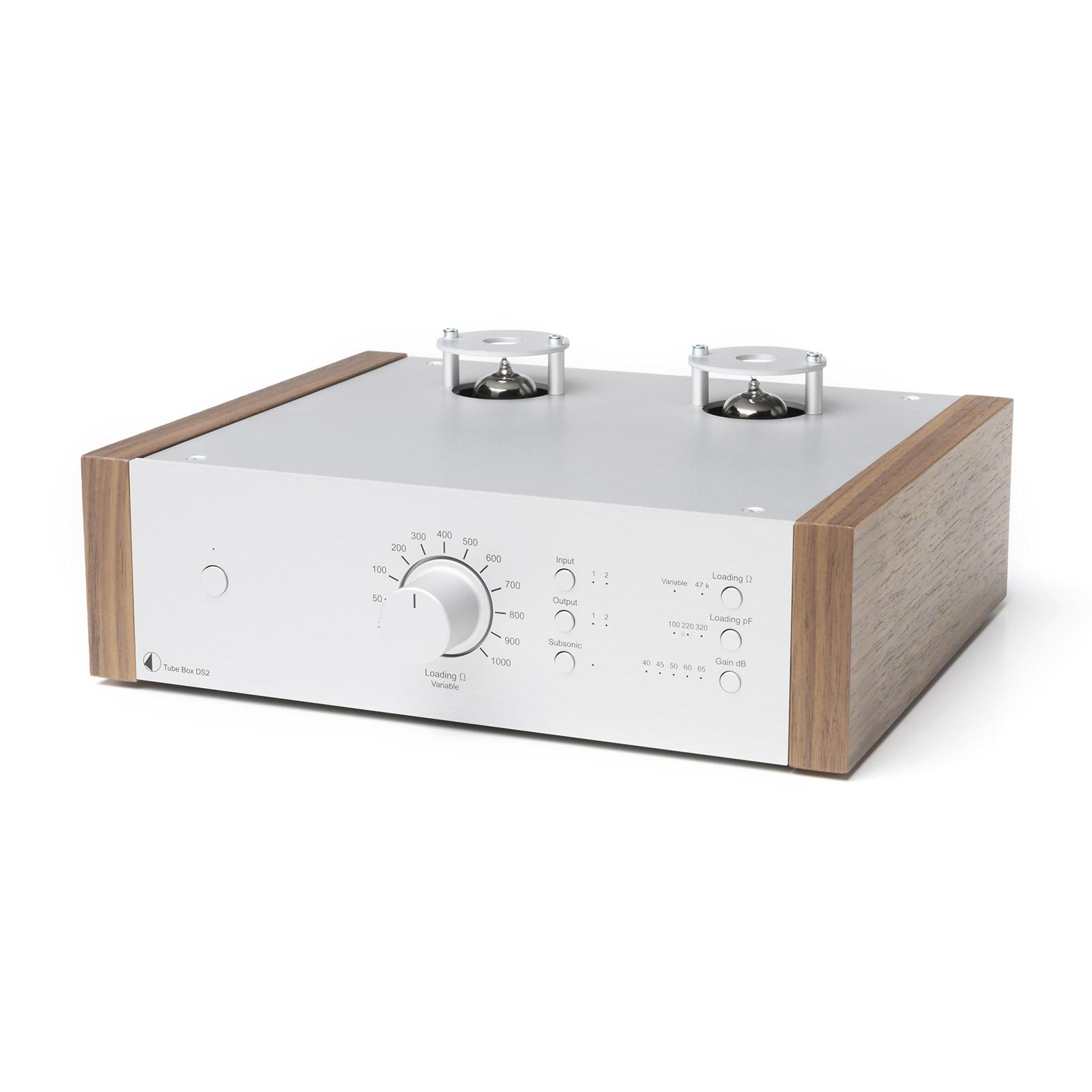 Pro-Ject Tube Box DS2 Silver Walnut