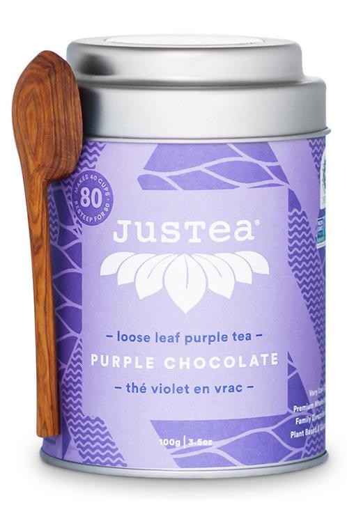 JusTea® Purple Chocolate Loose Leaf Tea