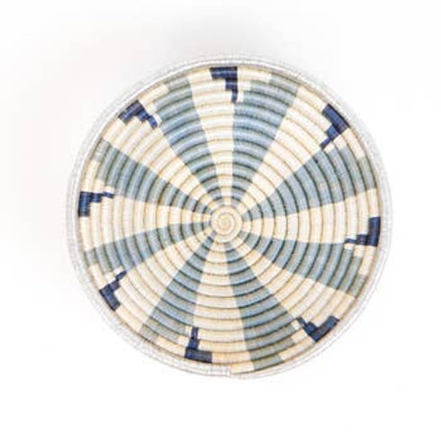 Medium Metallic Silver Virunga Round Basket