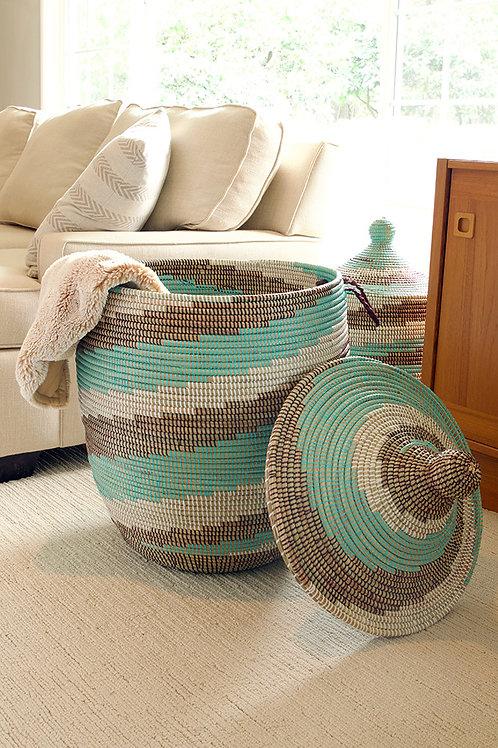 Large Sahel Sky Laundry Hamper Basket
