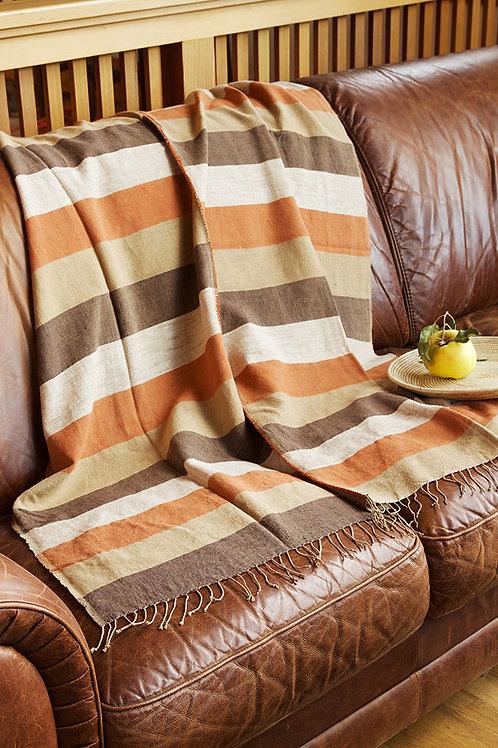 Ethiopian Harvest Moon Cotton Throw or Tablecloth