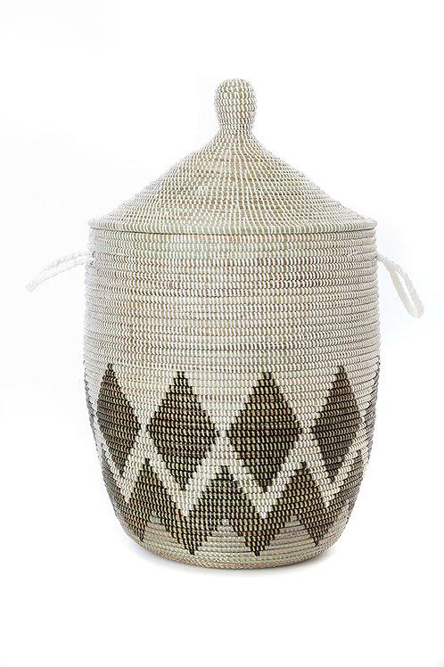 Medium Gem Border Laundry Hamper Basket