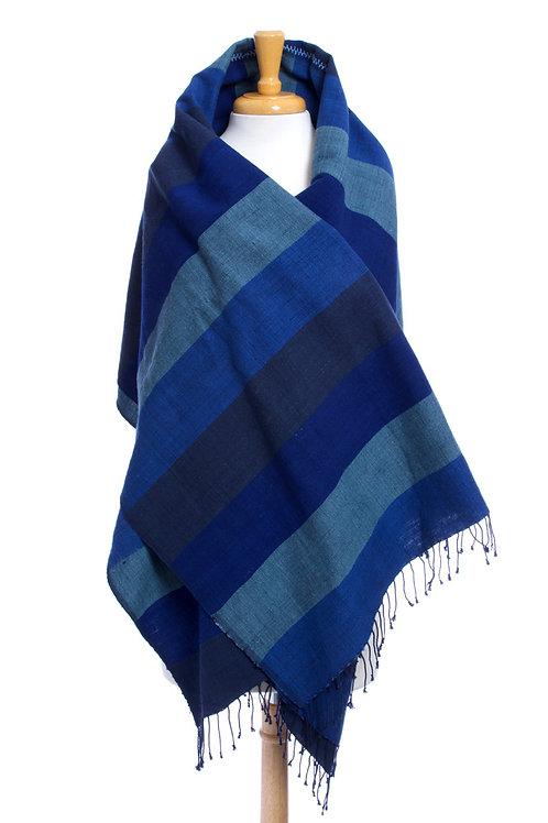 Ethiopian Blue Moon Cotton Throw or Tablecloth