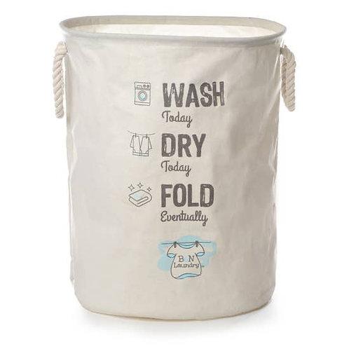Wash Dry Fold Canvas Laundry Bag