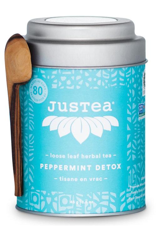 JusTea® Peppermint Detox Loose Leaf Tea