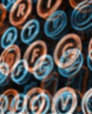 Neon skrivmaskin Keys