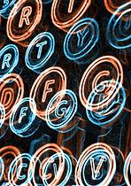 Neon Daktilo Tuşları