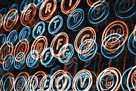 Neon-Schreibmaschinen-Tasten