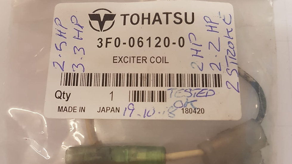 Tohatsu Exciter Coil 3F0-06120-0