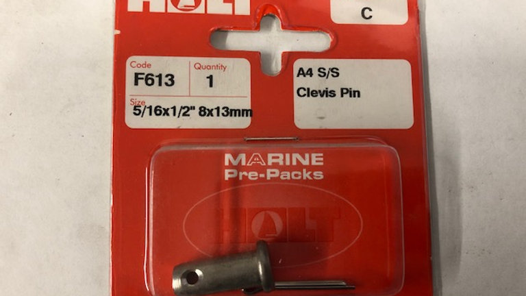 A4 s/s clevis pins (cruiser range)