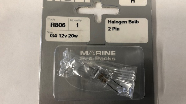 G4 2 pin halogen bulb 12V 20W