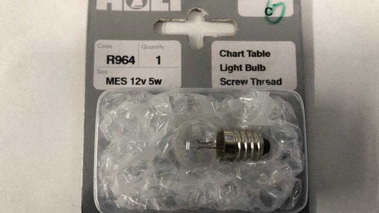Chart Table Light Bulb