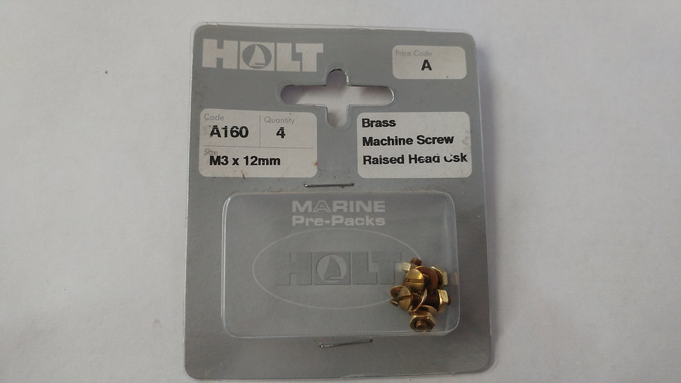 Brass Raised Head Countersunk Slotted Machine Screws